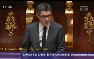 Mon intervention en tant que rapporteur du projet de loi relatif aux droits des étrangers