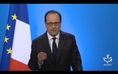 Ma réaction suite à l'annonce de François Hollande